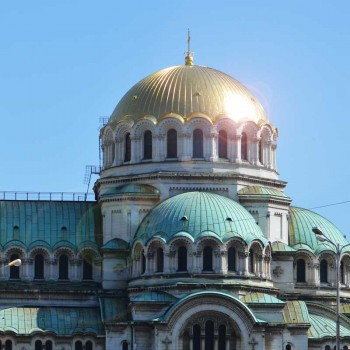 The Alexander Newski Cathedral, one of Sofia's many churches