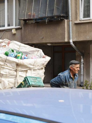 Making a living in Sofia: Dimitar collects waste