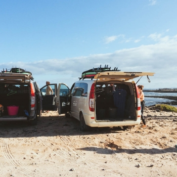 Planet Surfcamps Fuerteventura am Surfspot Punta Blanca
