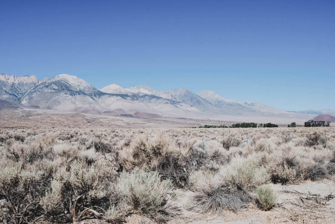 Blick auf die Berge der Sierra Nevada