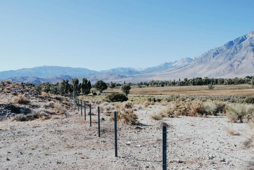 Endlose Weite östlich der Sierra Nevada USA