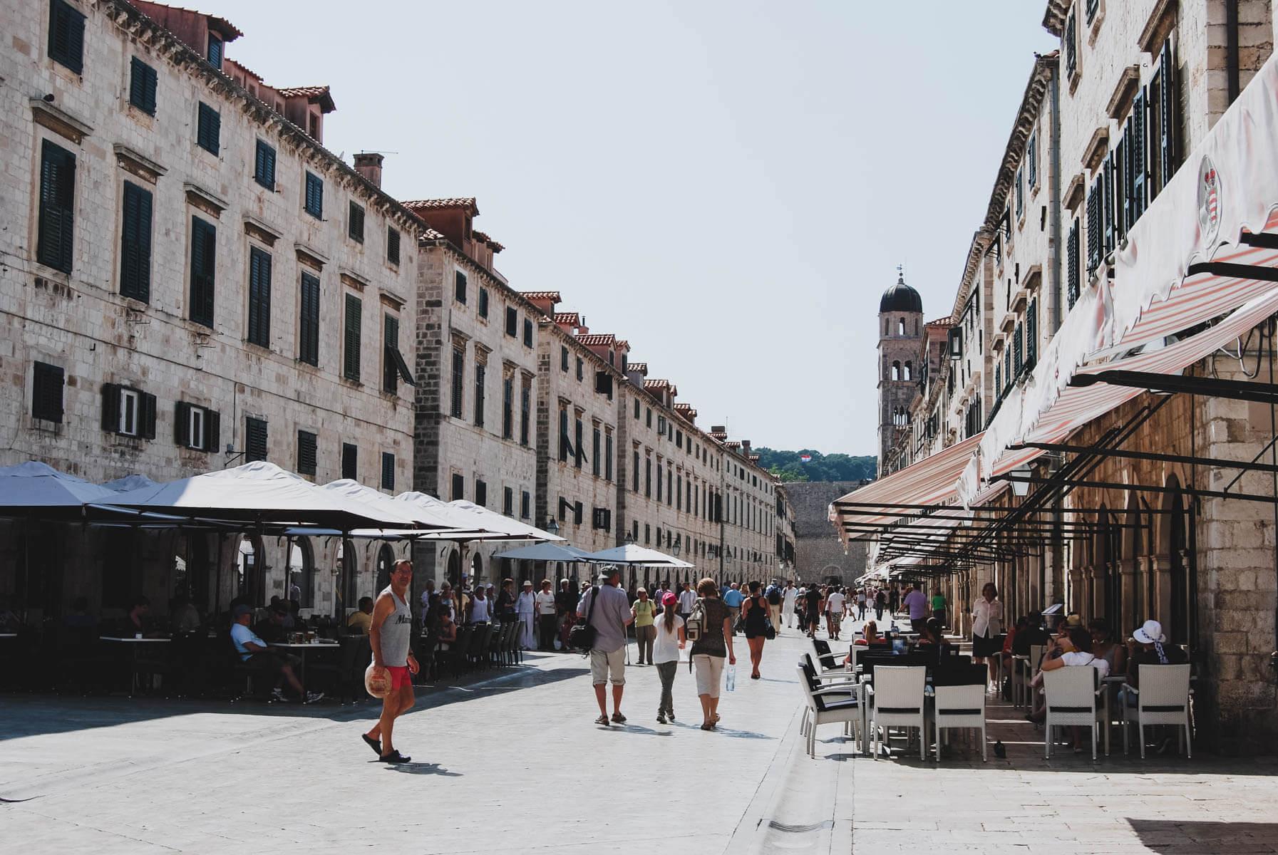 Gassen in der Altstadt von Dubrovnik