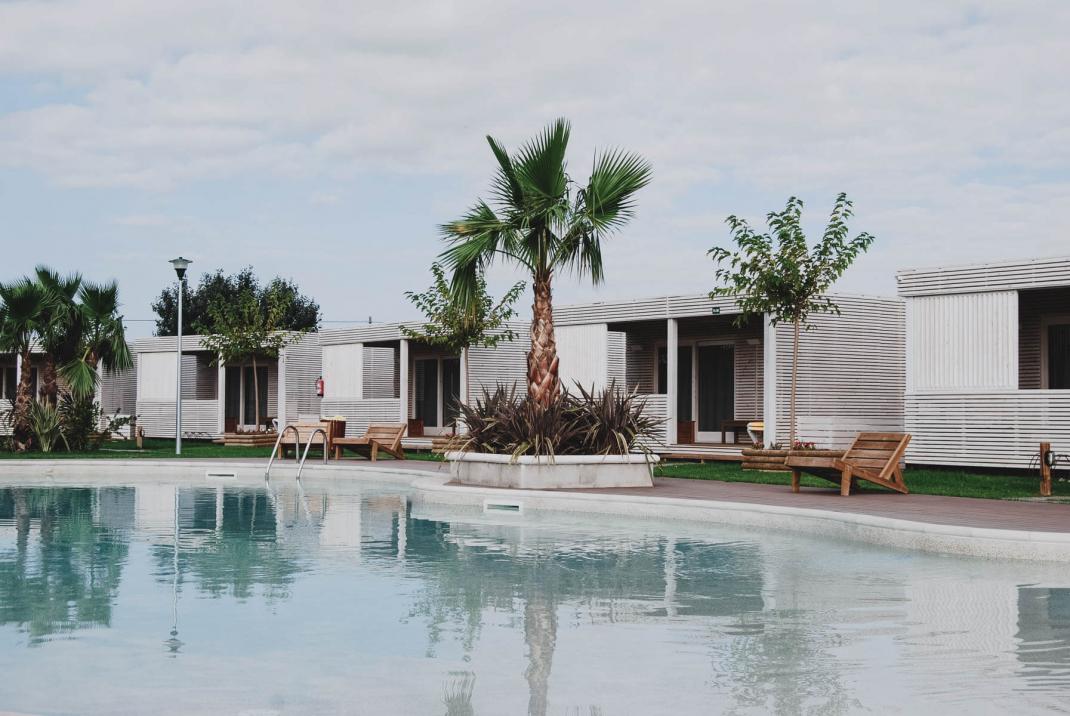 Glamping an der Costa Brava Holzhütten mit eigenem Pool