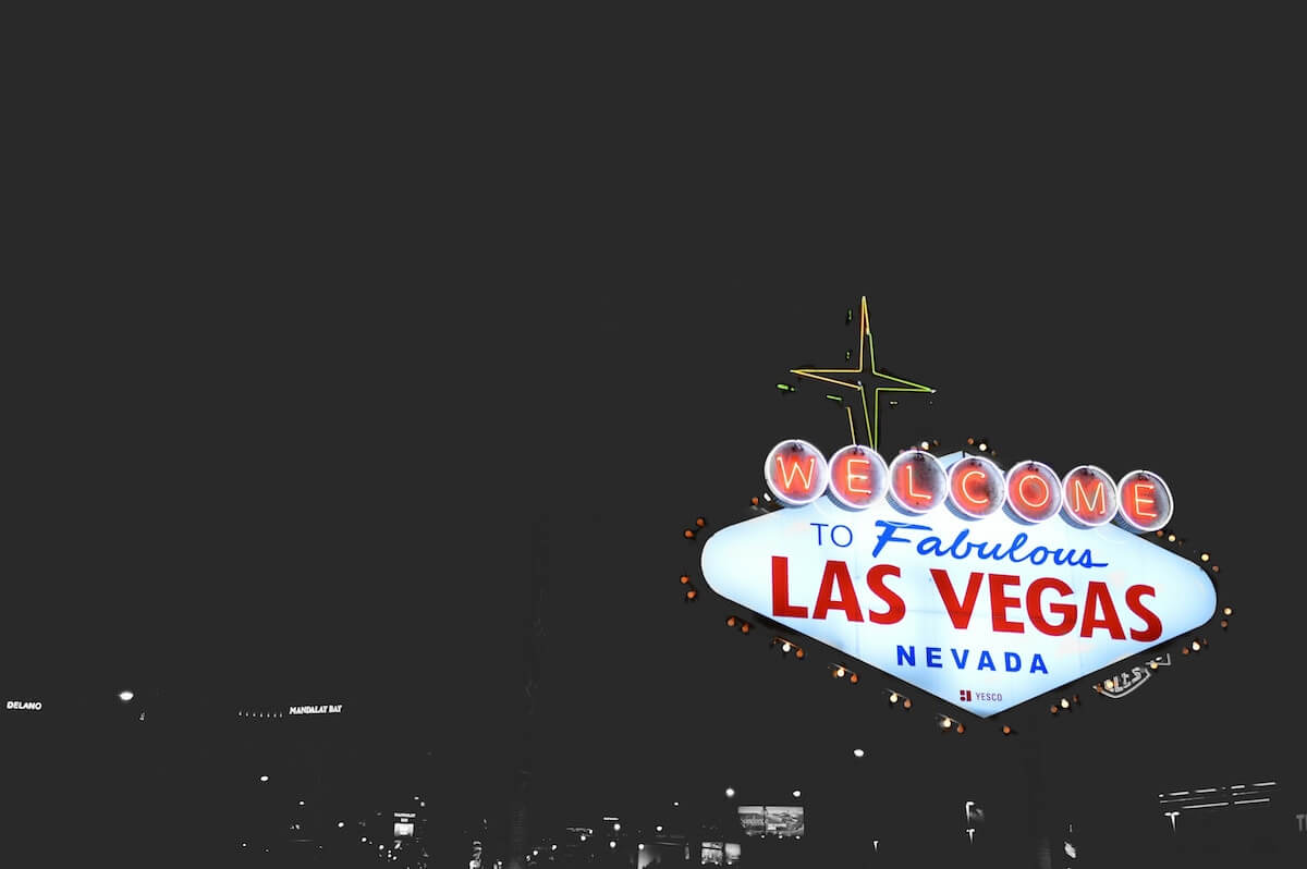 Las Vegas Sign at night Photo credit James Walsh