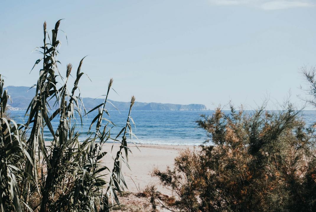 Strand an der Costa Brava Spanien