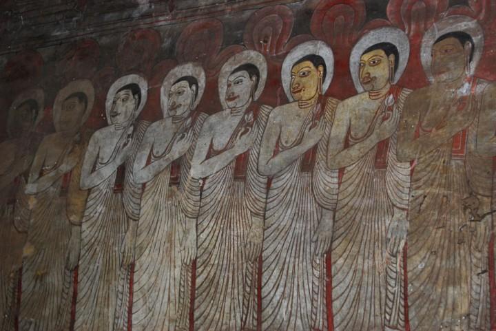 Sri Lanka Malereien im Dambulla Höhlentempel