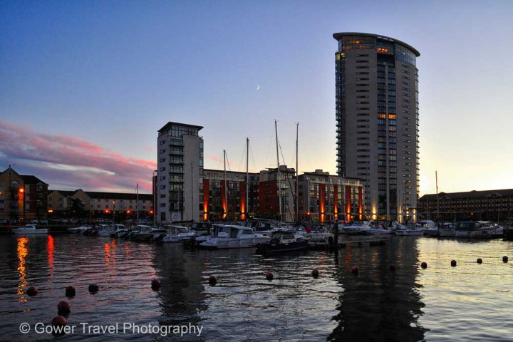 Insidertipps Wales Swansea-Marina-and-Meridian-Tower-by-Gower-Travel-Photography