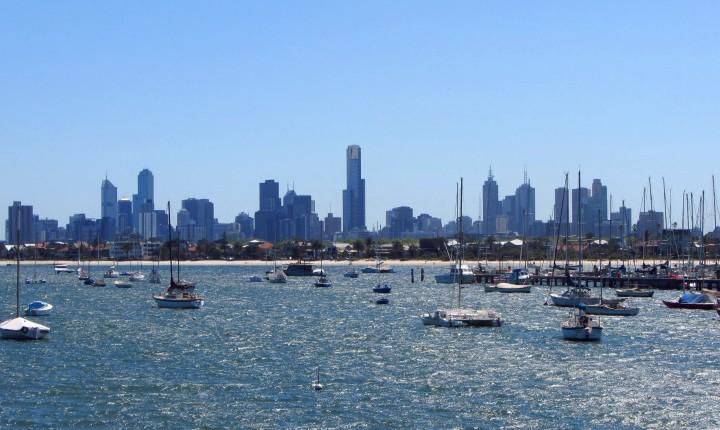 Melbourne Frage 1 Blick auf Melbourne