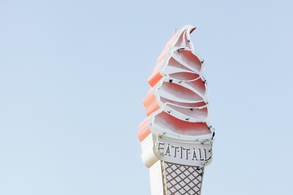 Ice Cream Neon Sign Photo Credit Annie Shelmerdine Unsplash