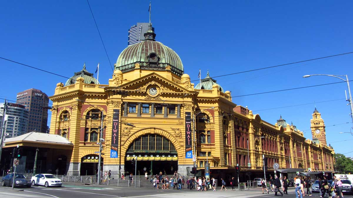 Flinders Street Station - number one meeting point in Melbourne