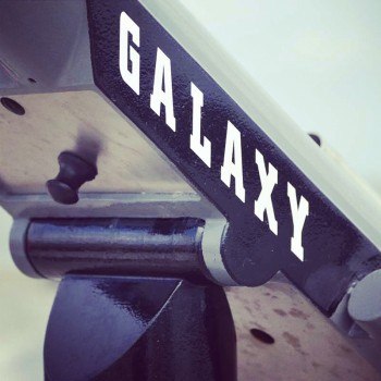 A telescope with Galaxy printed on it in Neuharlingersiel Germany