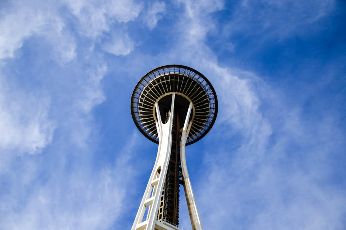 The icon of a city: The Space needle is one of the top sights in Seattle, Washington