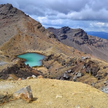 New Zealand Volcano Mountain Lake