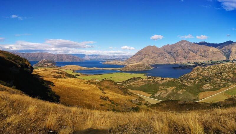Lake Wanaka New Zealand Panorama Kurztrip nach Neuseeland