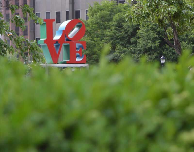 The LOVE sculpture by Robert Indiana.