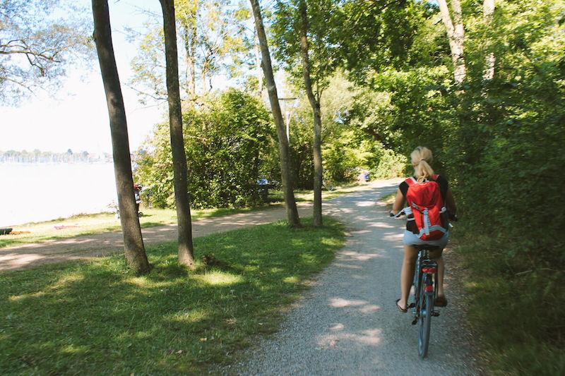 Chiemsee-Radweg Anna Anemina Travels auf dem Fahrrad