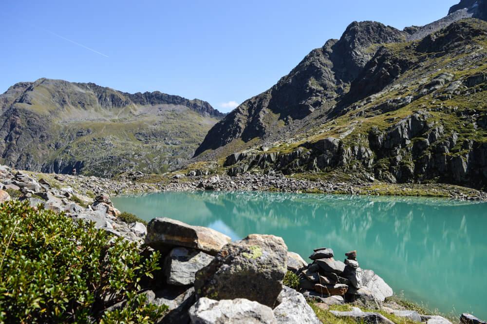 Wilde Wasser Weg Stubaital Tirol Blaue Lacke