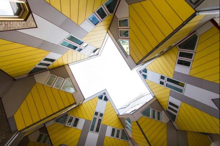 Besondere-Airbnb-unterkünfte in Europa-Cubehouse-Rotterdam