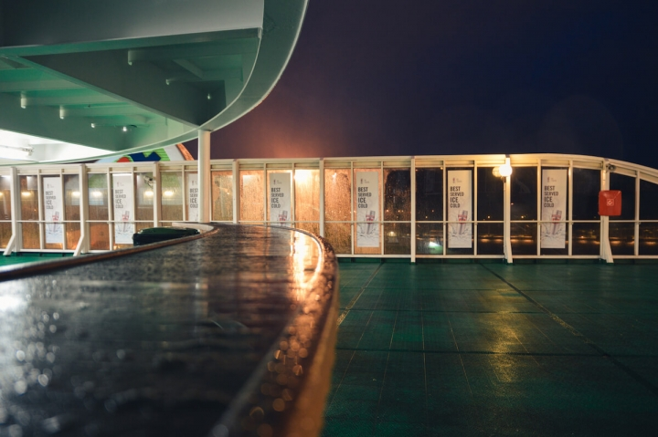 MS Romantika Tallink Silja Regen und Sturm Schiffstagebücher