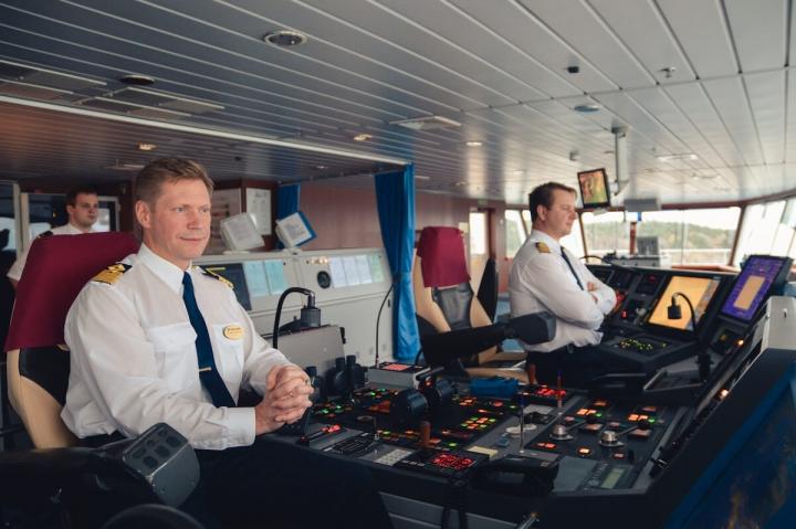 MS Romantika Tallink Silja Schiffstagebücher Kapitänsbrücke