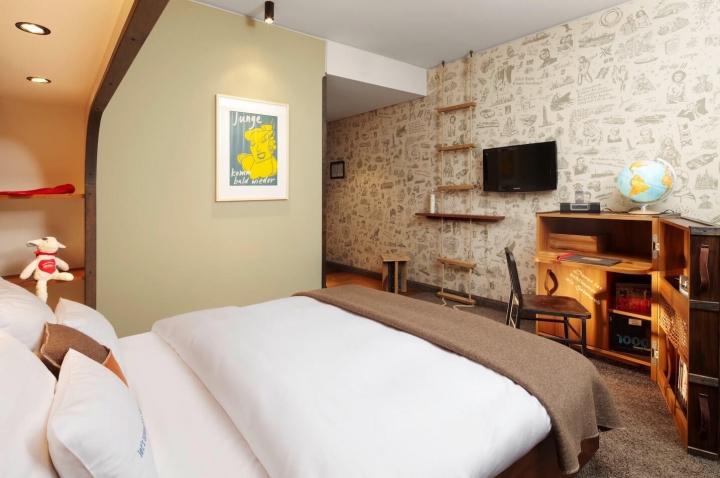 25 hours hotel Hambur Hafencity M-Koje Schlafzimmer