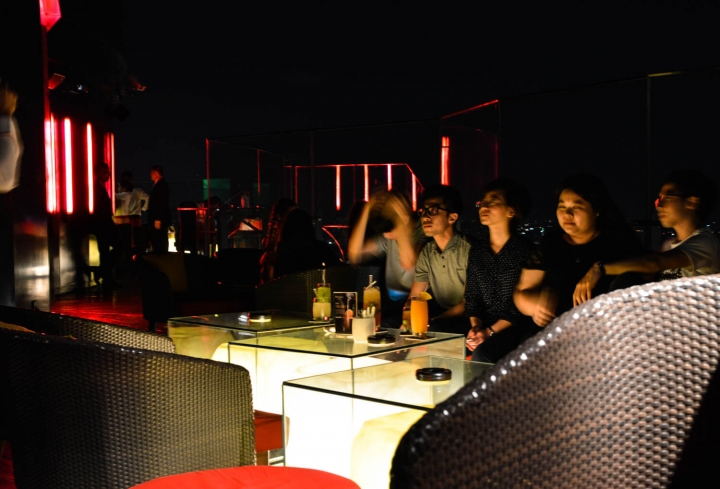 Downtown Bangkok Red Sky Bar at Central World
