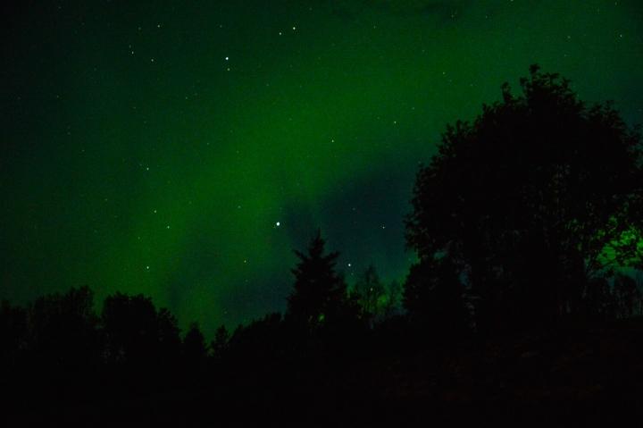 Nordlichter über Lappland im September fotografiert