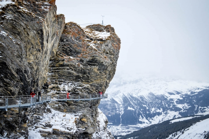 Der First Cliff Walk in Grindelwald Berner Oberland