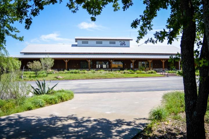 Die Wildcatter Ranch in Texas Blick auf das Restaurant Dinner Bell das beste Steaks serviert