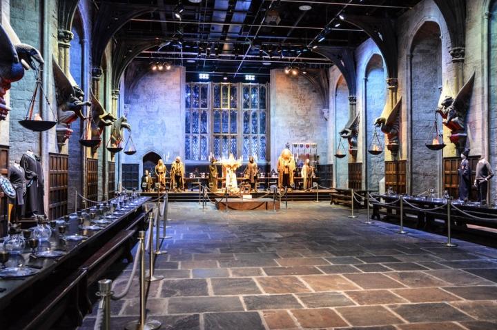Die große Halle von Hogwarts-In den Warner Bros-Studios in London können Besucher hautnah in die Welt von Harry Potter eintauchen