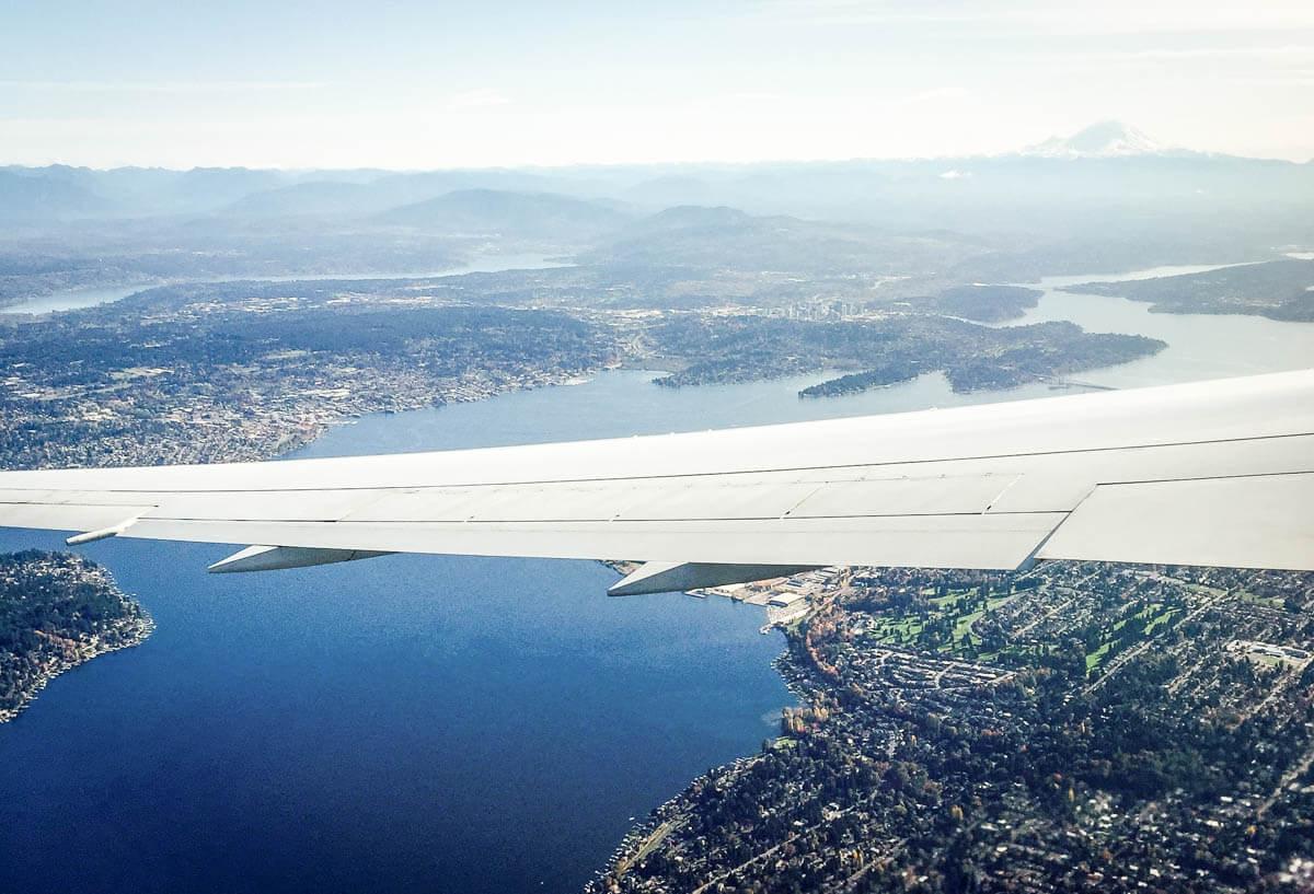 Seattle von oben zur Illustration von Packliste Handgepaeck