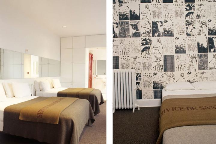 Zwei verschiedene Zimmeransichten im ACE Hotel Seattle