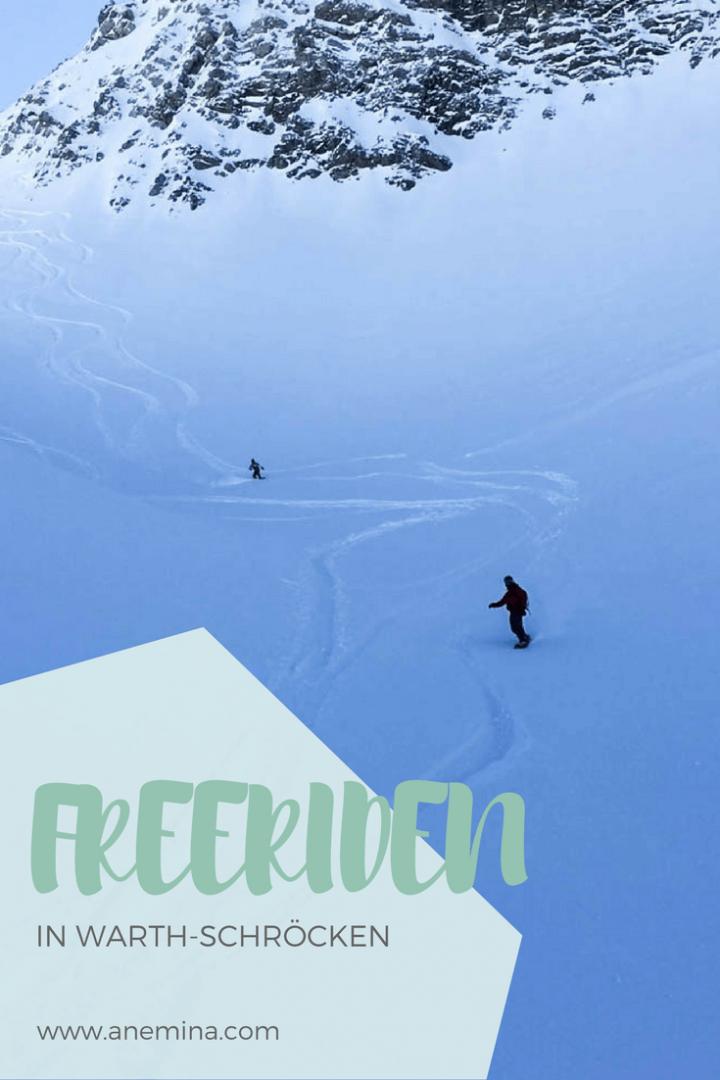 Freeriden in Warth-Schröcken Arlberg Snowboarden Skifahren Alpen Vorarlberg Österreich Tiefschnee