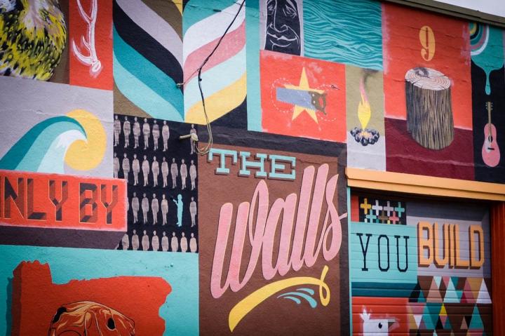 Portland Oregon Tipps Street Art The Walls you build yourself