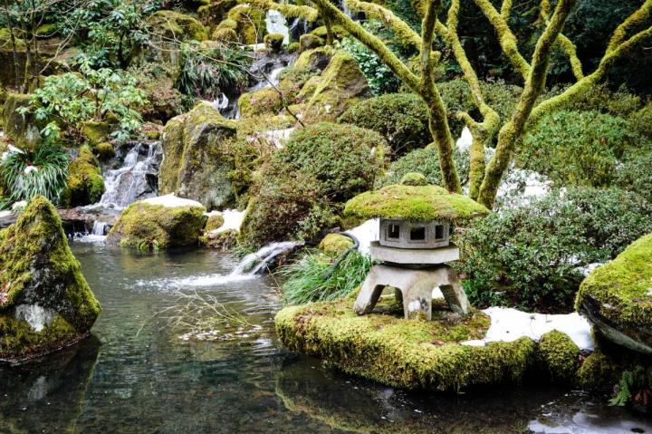 Portland-Tipps Teich im Japanese Garden
