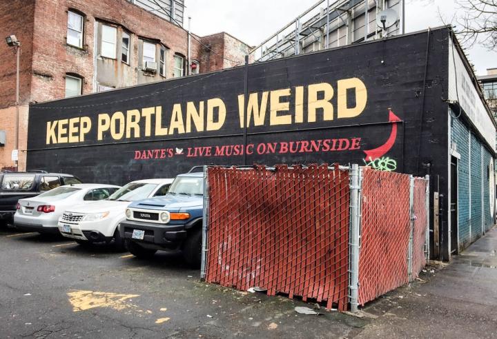 Portland-Tipps Mural Keep Portland Weird