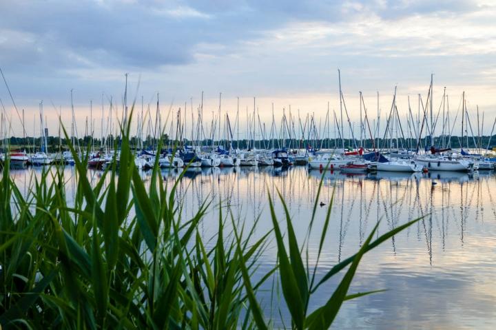 Kanufahren in Leipzig Boote im Hafen Zöbigker