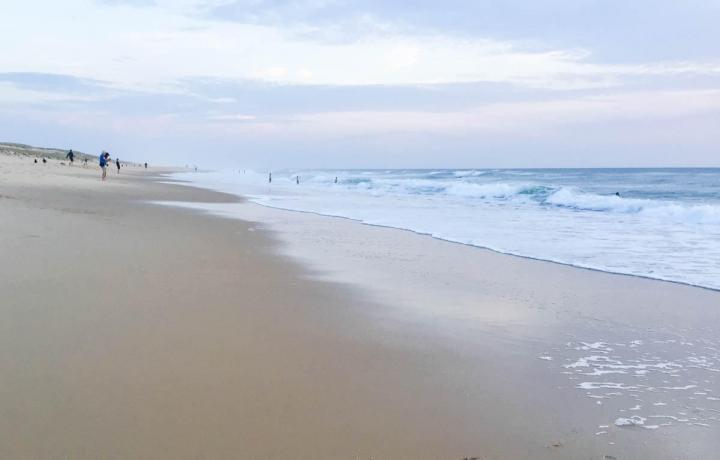 Le Porge Océan Meer bei Sonnenuntergang