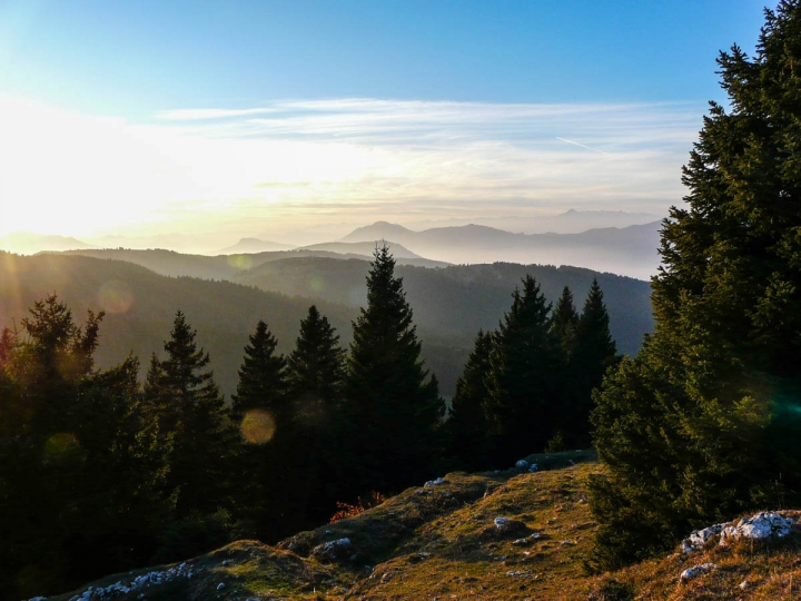 Trentino im Herbst Wandern im Bärental Valle Orsara Blick ins Tal