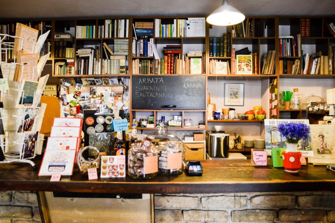 Vilnius-tipps Mint Vinetu Buchhandlung
