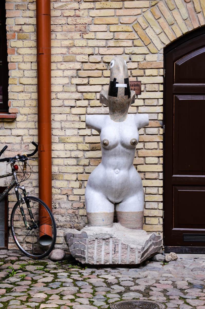 Vilnius-tipps Skulptur in Uzupis
