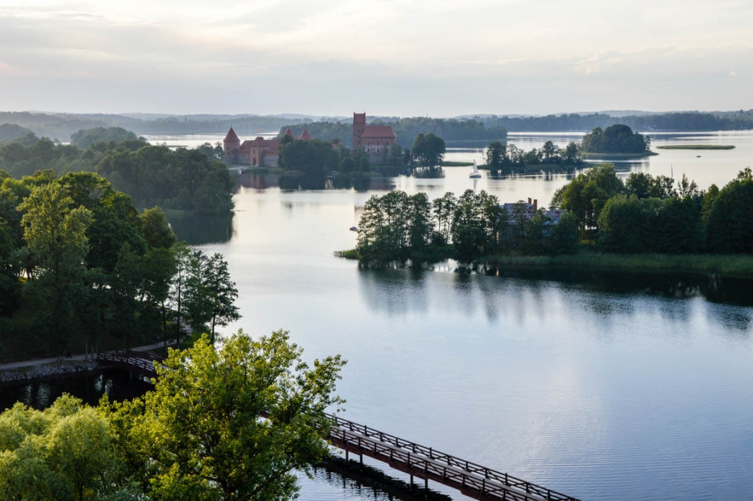 Vilnius-tipps Trakai Wasserschloss aus dem Heißluftballon