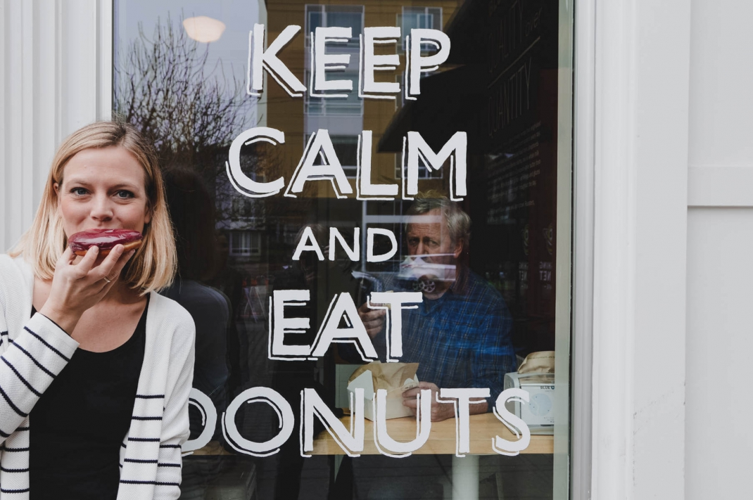 Alternative Städtereisen Keep Calm and eat Donuts Portland