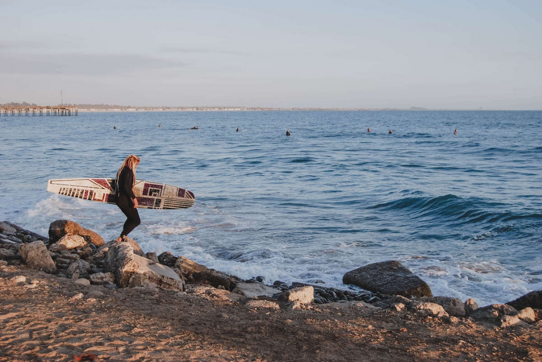 Kalifornien Surfer am Strand