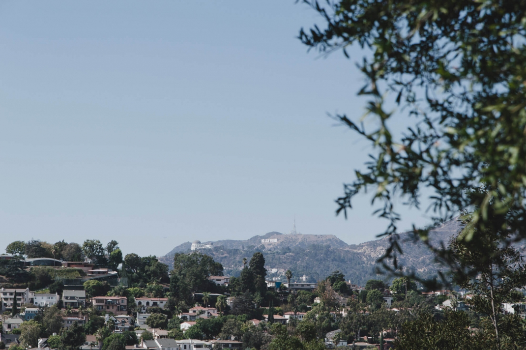 Grünes fußgängerfreundliches Los Angeles Silver Lake