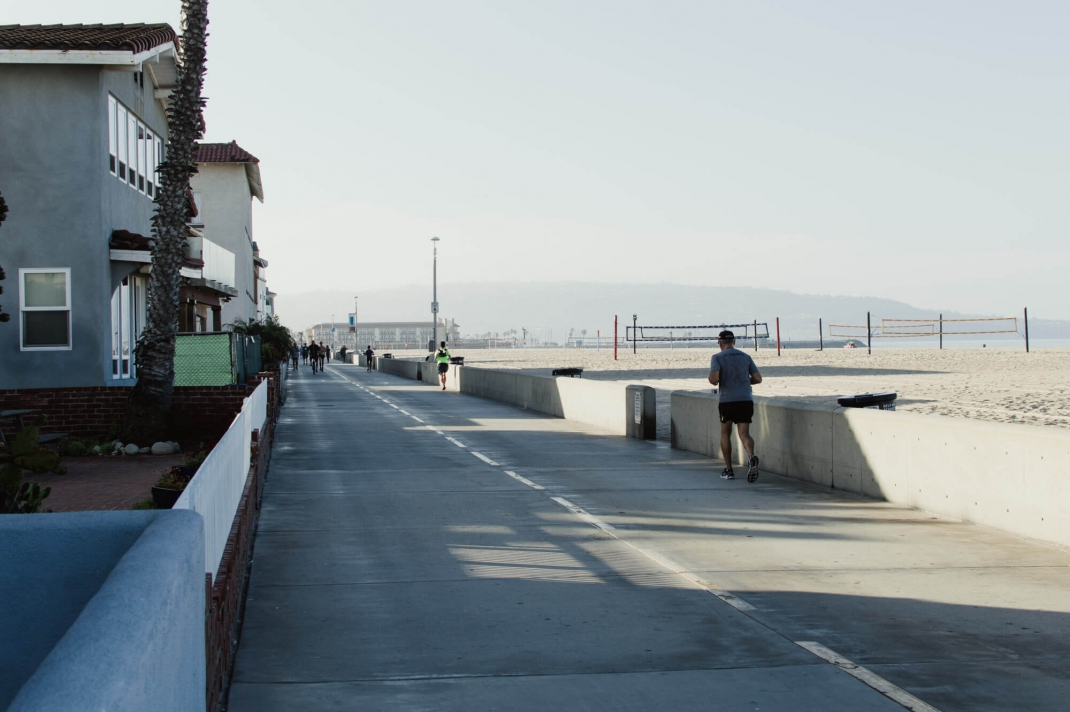 Hermosa Beach Los Angeles Boardwalk Strandpromenade