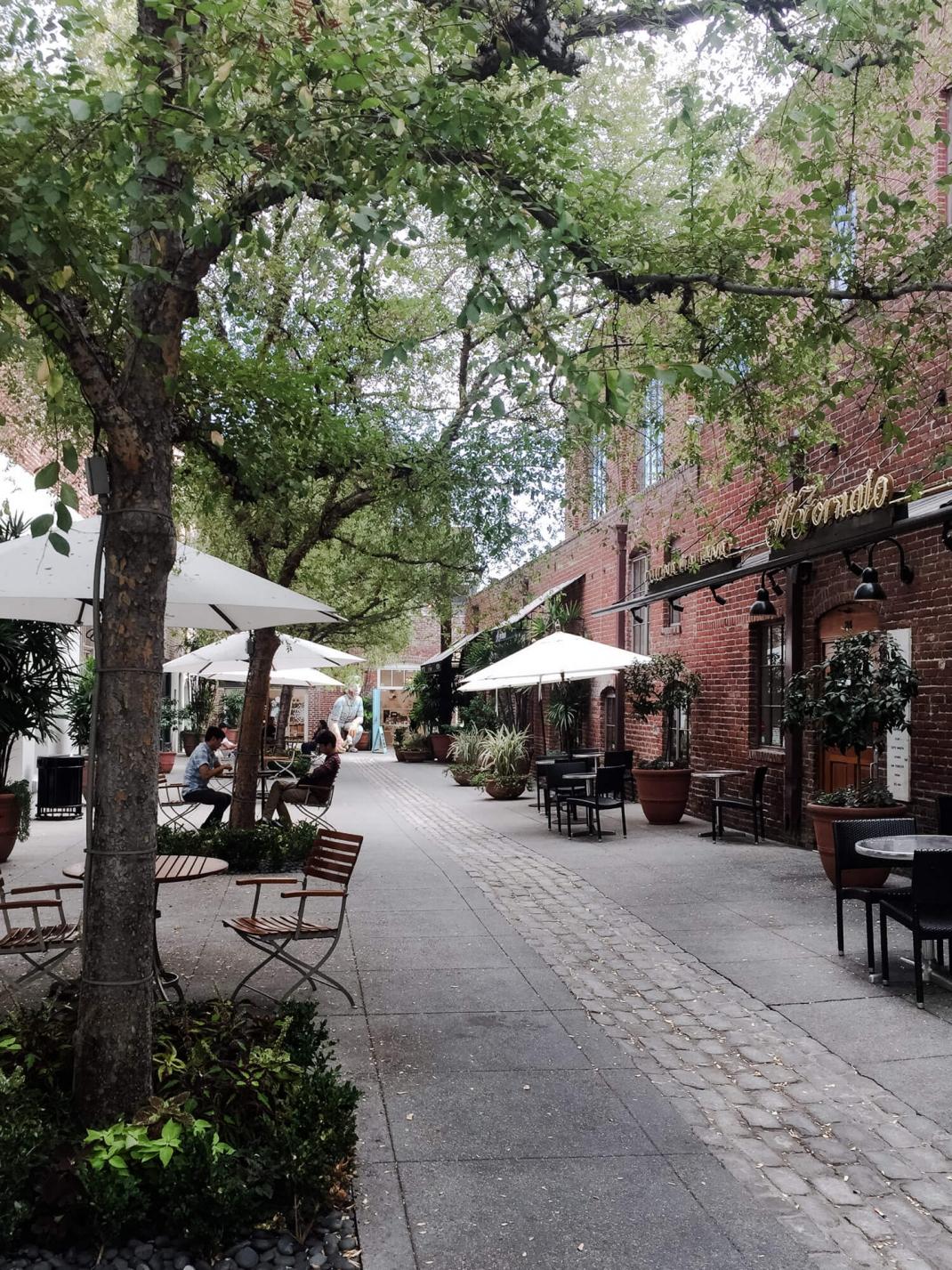Die Altstadt von Pasadena Los Angeles für Fußgänger