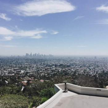 Aussicht auf Downtown Los Angeles vom Griffith Observatory