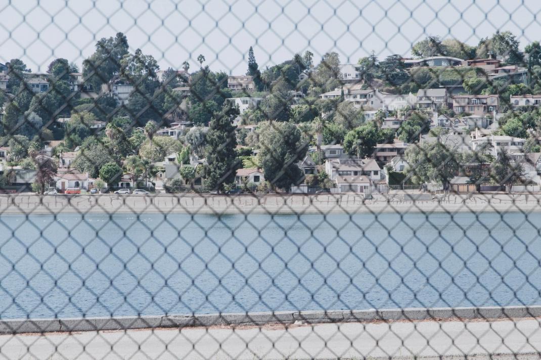 Silver Lake Los Angeles Kalifornien Wasserspeicher Spaziergang