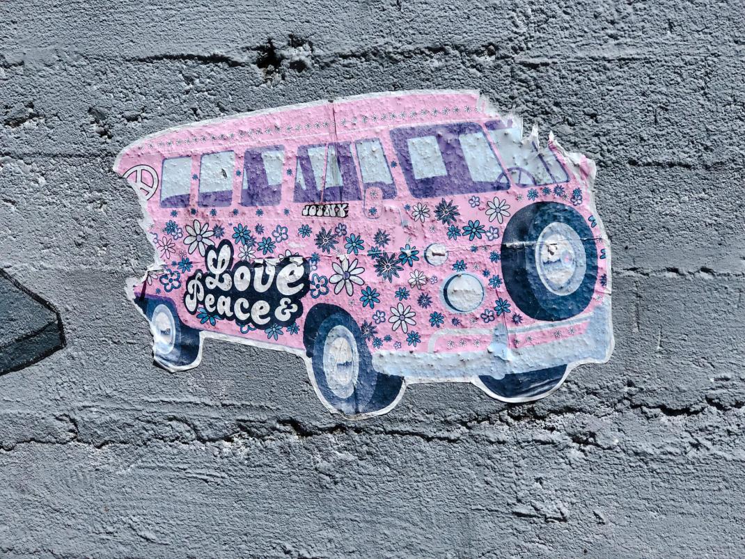 Street Art Guide Köln Hippie-Bus von Joiny